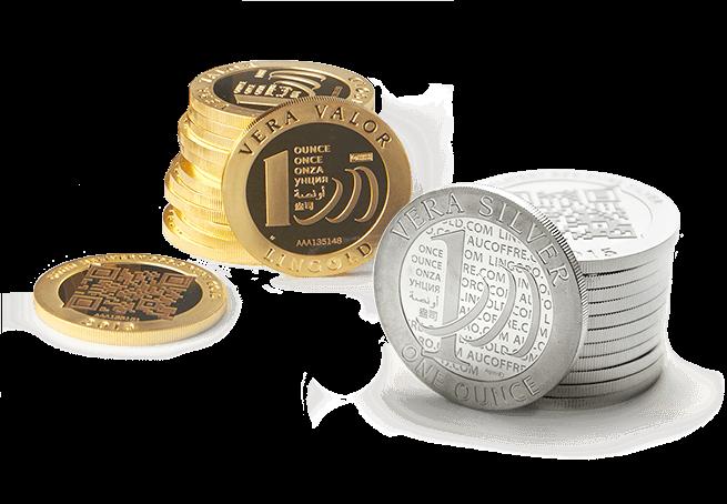 Vera Valor and Vera Silver coins