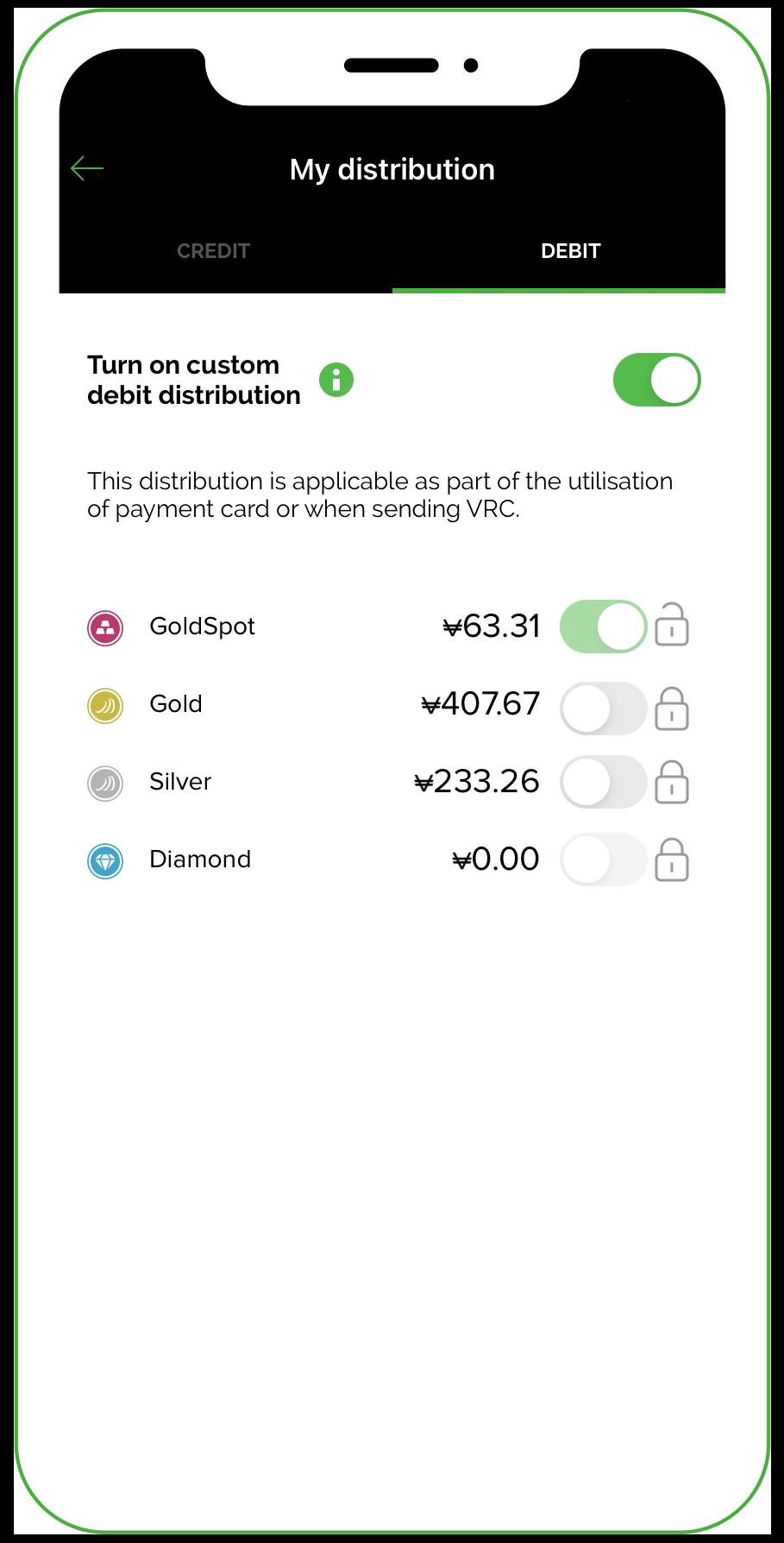 Manage your VeraCash distribution