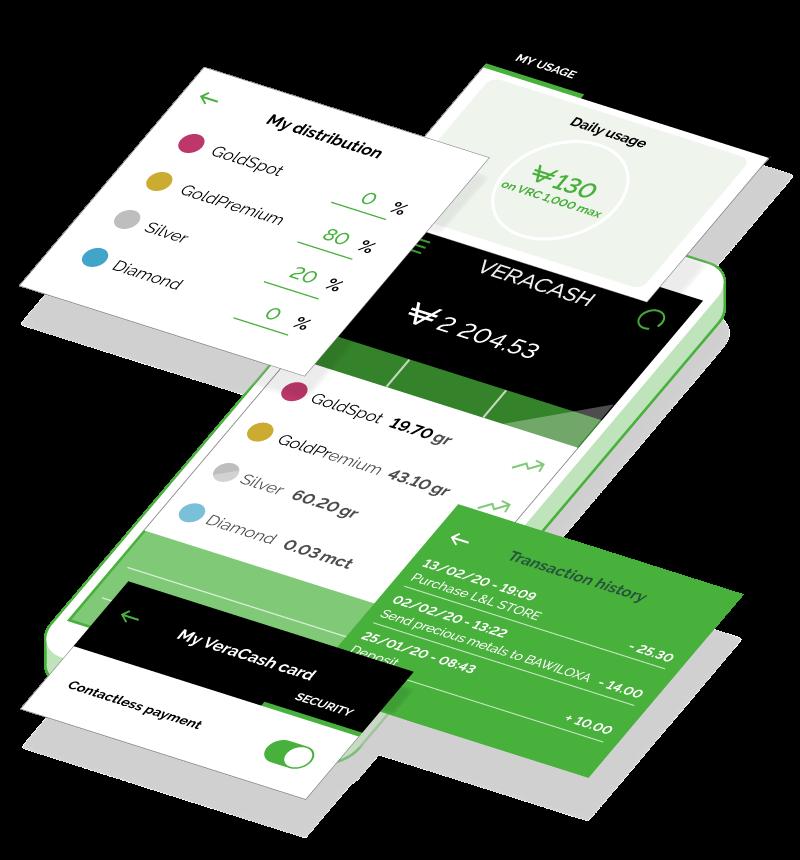 Key features app VeraCash