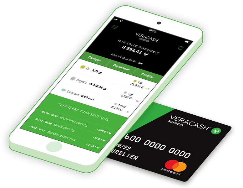 VeraCash card and mobile app