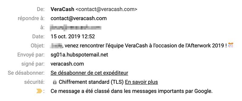 VeraCash marketing emails